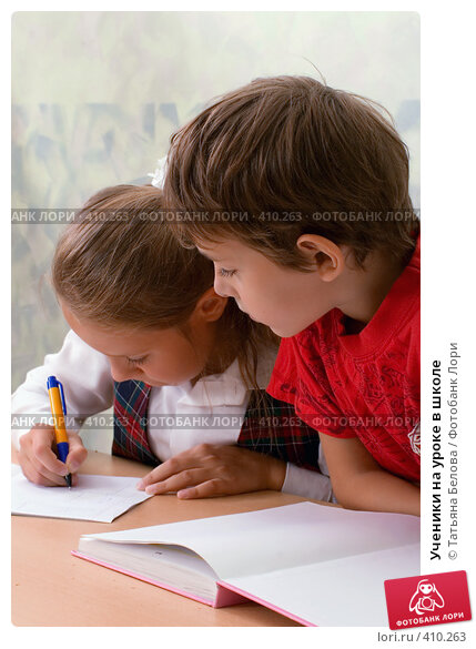 Купить «Ученики на уроке в школе», фото № 410263, снято 19 августа 2007 г. (c) Татьяна Белова / Фотобанк Лори