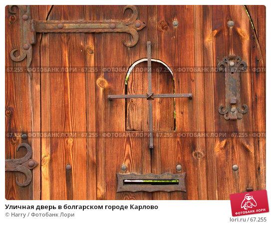 Купить «Уличная дверь в болгарском городе Карлово», фото № 67255, снято 12 мая 2005 г. (c) Harry / Фотобанк Лори