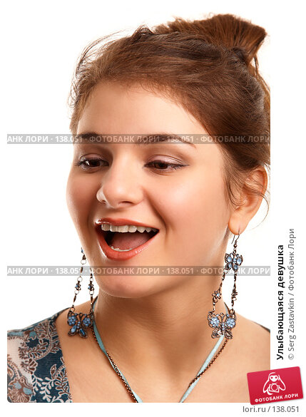 Улыбающаяся девушка, фото № 138051, снято 2 ноября 2006 г. (c) Serg Zastavkin / Фотобанк Лори
