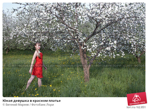 Юная девушка в красном платье, фото № 62851, снято 22 мая 2007 г. (c) Евгений Мареев / Фотобанк Лори