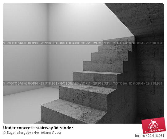 Купить «Under concrete stairway 3d render», иллюстрация № 29918931 (c) EugeneSergeev / Фотобанк Лори
