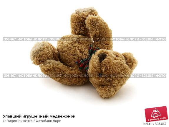 Упавший игрушечный медвежонок, фото № 303867, снято 16 мая 2008 г. (c) Лидия Рыженко / Фотобанк Лори