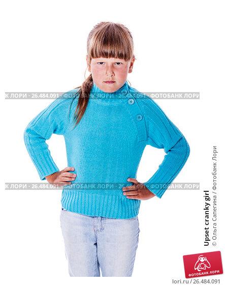 Купить «Upset cranky girl», фото № 26484091, снято 26 июня 2010 г. (c) Ольга Сапегина / Фотобанк Лори