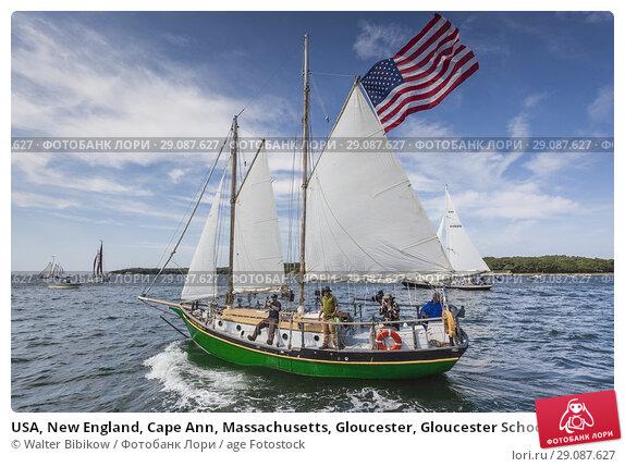 Купить «USA, New England, Cape Ann, Massachusetts, Gloucester, Gloucester Schooner Festival, schooners.», фото № 29087627, снято 4 сентября 2017 г. (c) age Fotostock / Фотобанк Лори