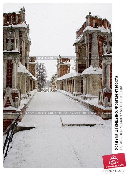 Купить «Усадьба Царицыно. Фрагмент моста», фото № 12519, снято 28 января 2006 г. (c) Лисовская Наталья / Фотобанк Лори