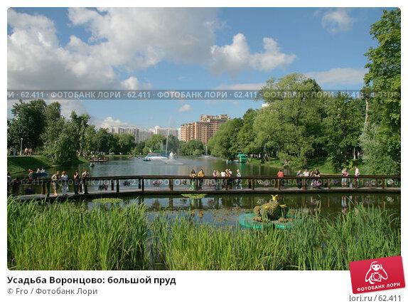 Усадьба Воронцово: большой пруд, фото № 62411, снято 14 июля 2007 г. (c) Fro / Фотобанк Лори