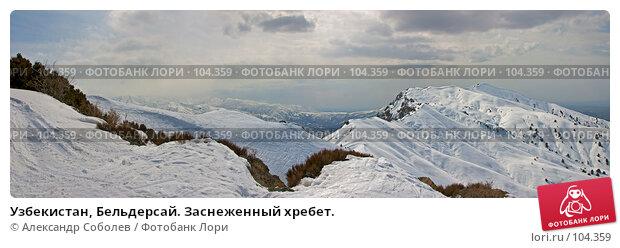 Узбекистан, Бельдерсай. Заснеженный хребет., фото № 104359, снято 25 мая 2017 г. (c) Александр Соболев / Фотобанк Лори