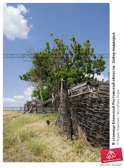 В станице Еланской Ростовской области. Забор подворья., фото № 92047, снято 25 мая 2007 г. (c) Борис Панасюк / Фотобанк Лори