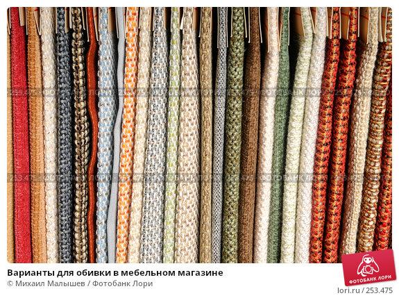 Варианты для обивки в мебельном магазине, фото № 253475, снято 16 апреля 2008 г. (c) Михаил Малышев / Фотобанк Лори