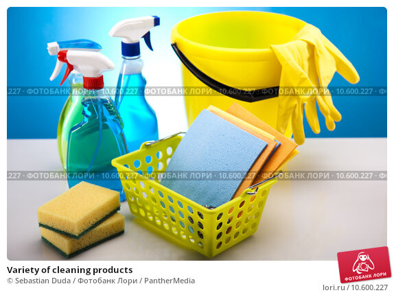Variety of cleaning products. Стоковое фото, фотограф Sebastian Duda / PantherMedia / Фотобанк Лори