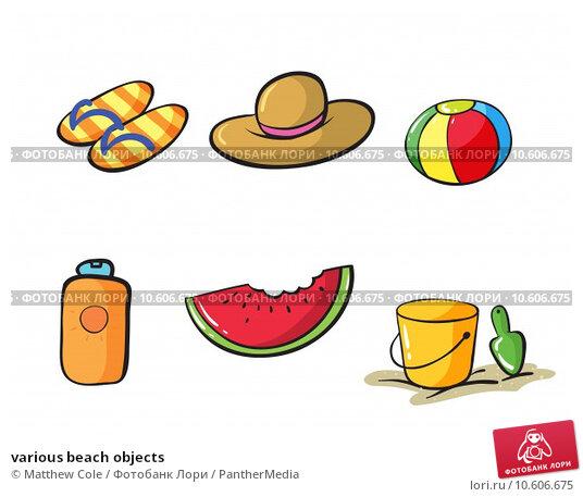 various beach objects. Стоковая иллюстрация, иллюстратор Matthew Cole / PantherMedia / Фотобанк Лори