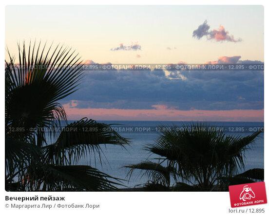 Купить «Вечерний пейзаж», фото № 12895, снято 4 ноября 2006 г. (c) Маргарита Лир / Фотобанк Лори