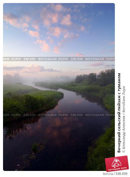 Вечерний сельский пейзаж с туманом, эксклюзивное фото № 338939, снято 27 июня 2008 г. (c) Александр Алексеев / Фотобанк Лори