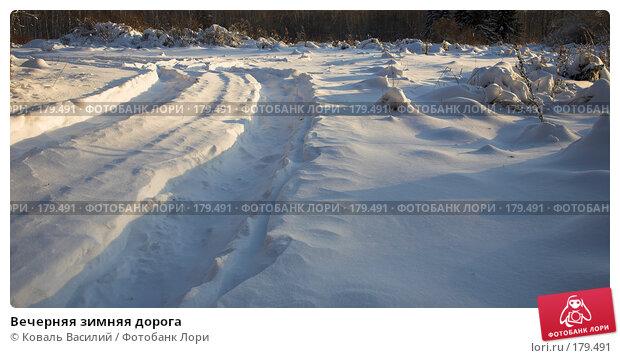 Вечерняя зимняя дорога, фото № 179491, снято 10 ноября 2007 г. (c) Коваль Василий / Фотобанк Лори