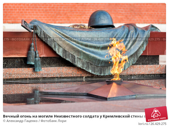 Купить «Вечный огонь на могиле Неизвестного солдата у Кремлевской стены в Александровском саду в Москве», фото № 26429275, снято 18 августа 2012 г. (c) Александр Гаценко / Фотобанк Лори
