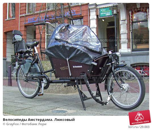 Велосипеды Амстердама. Люксовый, фото № 29003, снято 23 февраля 2007 г. (c) GrayFox / Фотобанк Лори