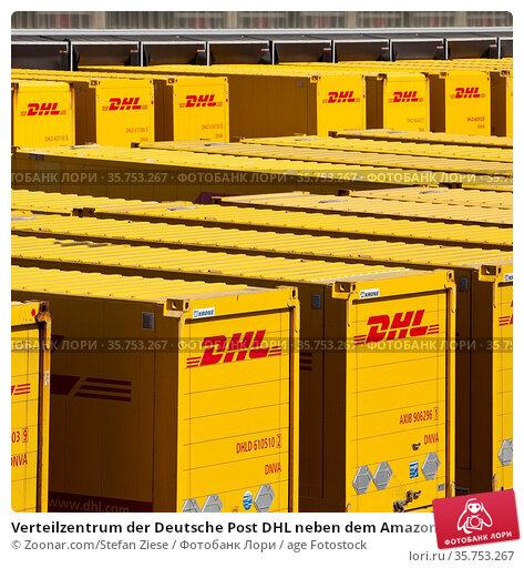 Verteilzentrum der Deutsche Post DHL neben dem Amazon Logistikzentrum... Стоковое фото, фотограф Zoonar.com/Stefan Ziese / age Fotostock / Фотобанк Лори