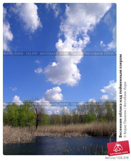 Купить «Весенние облака над пойменным озером», фото № 133379, снято 22 марта 2018 г. (c) Борис Панасюк / Фотобанк Лори