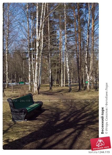Весенний парк, фото № 244119, снято 4 апреля 2008 г. (c) Игорь Соколов / Фотобанк Лори