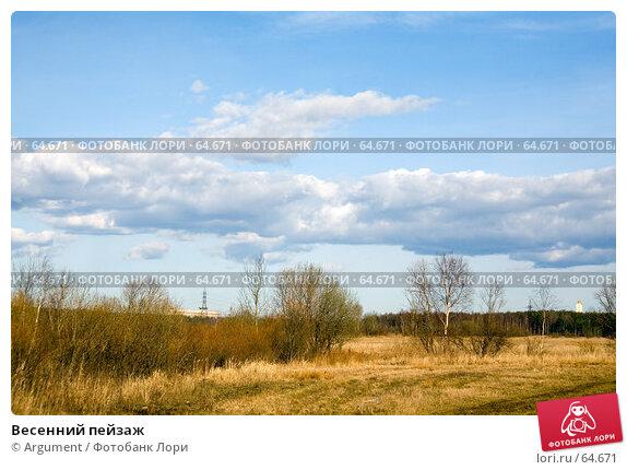 Купить «Весенний пейзаж», фото № 64671, снято 31 марта 2007 г. (c) Argument / Фотобанк Лори