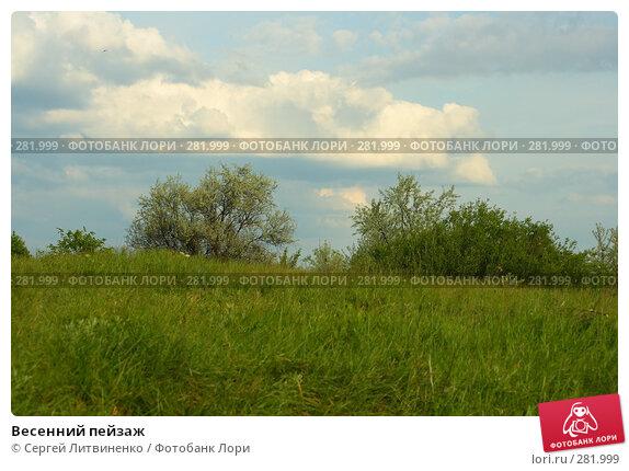Весенний пейзаж, фото № 281999, снято 11 мая 2008 г. (c) Сергей Литвиненко / Фотобанк Лори