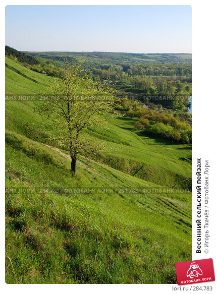 Весенний сельский пейзаж, фото № 284783, снято 25 апреля 2008 г. (c) Игорь Ткачёв / Фотобанк Лори