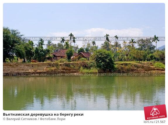 Вьетнамская деревушка на берегу реки, фото № 21567, снято 12 февраля 2007 г. (c) Валерий Ситников / Фотобанк Лори