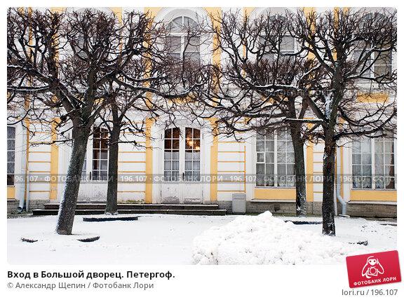 Вход в Большой дворец. Петергоф., эксклюзивное фото № 196107, снято 27 января 2008 г. (c) Александр Щепин / Фотобанк Лори
