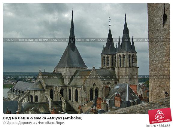 Вид на башню замка Амбуаз (Amboise) (2007 год). Стоковое фото, фотограф Ирина Доронина / Фотобанк Лори