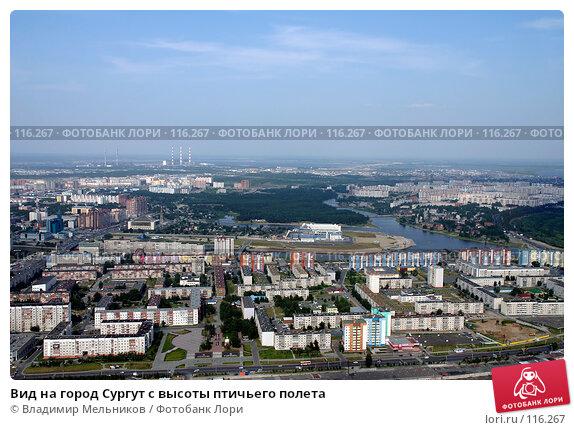 Вид на город Сургут с высоты птичьего полета, фото № 116267, снято 21 июля 2006 г. (c) Владимир Мельников / Фотобанк Лори