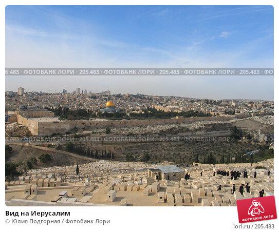 Вид на Иерусалим, фото № 205483, снято 30 ноября 2007 г. (c) Юлия Селезнева / Фотобанк Лори