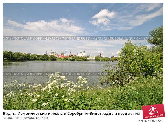 Купить «Вид на Измайловский кремль и Серебряно-Виноградный пруд летом, Москва», эксклюзивное фото № 4873543, снято 11 июня 2013 г. (c) lana1501 / Фотобанк Лори