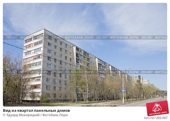 Вид на квартал панельных домов, фото № 293007, снято 23 апреля 2008 г. (c) Эдуард Межерицкий / Фотобанк Лори