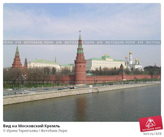 Купить «Вид на Московский Кремль», эксклюзивное фото № 619, снято 21 апреля 2004 г. (c) Ирина Терентьева / Фотобанк Лори