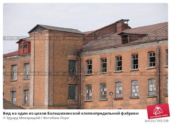 Вид на один из цехов Балашихинской хлопкопрядильной фабрики, фото № 315139, снято 29 мая 2008 г. (c) Эдуард Межерицкий / Фотобанк Лори