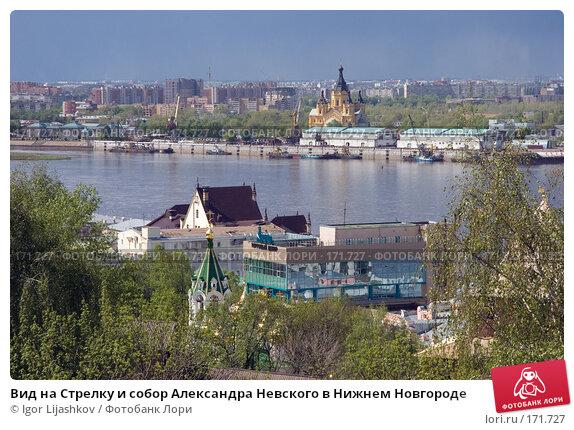 Вид на Стрелку и собор Александра Невского в Нижнем Новгороде, фото № 171727, снято 10 ноября 2004 г. (c) Igor Lijashkov / Фотобанк Лори