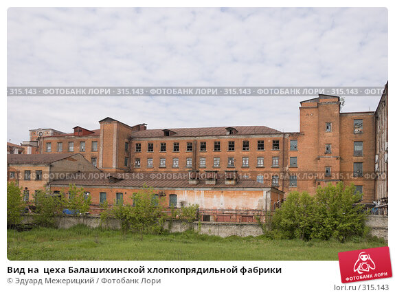 Вид на  цеха Балашихинской хлопкопрядильной фабрики, фото № 315143, снято 29 мая 2008 г. (c) Эдуард Межерицкий / Фотобанк Лори