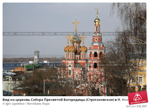 Вид на церковь Собора Пресвятой Богородицы (Строгановская) в Н. Новгороде, фото № 232207, снято 21 марта 2008 г. (c) Igor Lijashkov / Фотобанк Лори