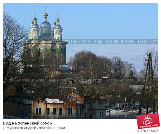 Вид на Успенский собор, эксклюзивное фото № 46823, снято 11 марта 2007 г. (c) Журавлев Андрей / Фотобанк Лори