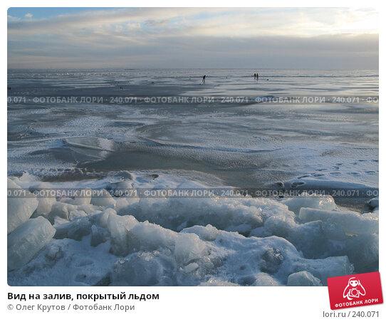 Купить «Вид на залив, покрытый льдом», фото № 240071, снято 20 апреля 2018 г. (c) Олег Крутов / Фотобанк Лори