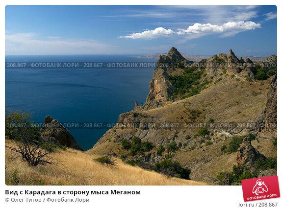 Вид с Карадага в сторону мыса Меганом, фото № 208867, снято 11 сентября 2006 г. (c) Олег Титов / Фотобанк Лори