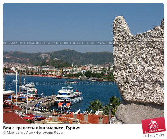Вид с крепости в Мармарисе. Турция, фото № 7487, снято 12 июля 2006 г. (c) Маргарита Лир / Фотобанк Лори