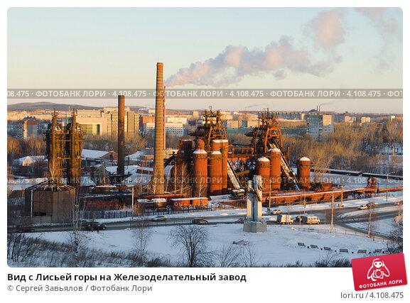 Купить «Вид с Лисьей горы на Железоделательный завод», фото № 4108475, снято 25 ноября 2012 г. (c) Сергей Завьялов / Фотобанк Лори