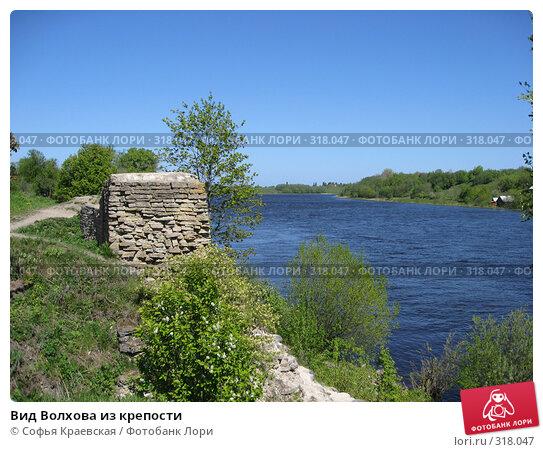 Вид Волхова из крепости, фото № 318047, снято 24 мая 2008 г. (c) Софья Краевская / Фотобанк Лори