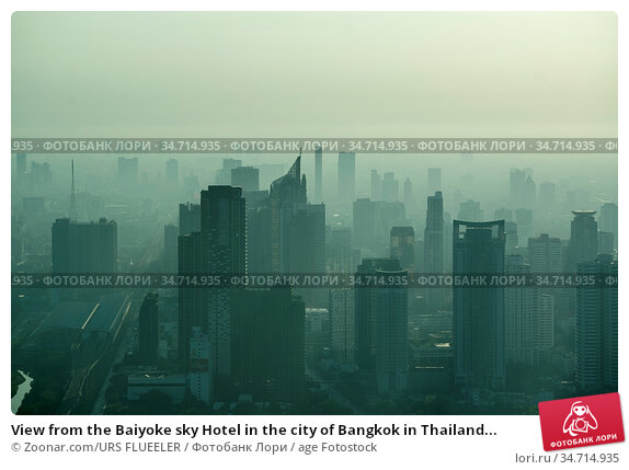 View from the Baiyoke sky Hotel in the city of Bangkok in Thailand... Стоковое фото, фотограф Zoonar.com/URS FLUEELER / age Fotostock / Фотобанк Лори