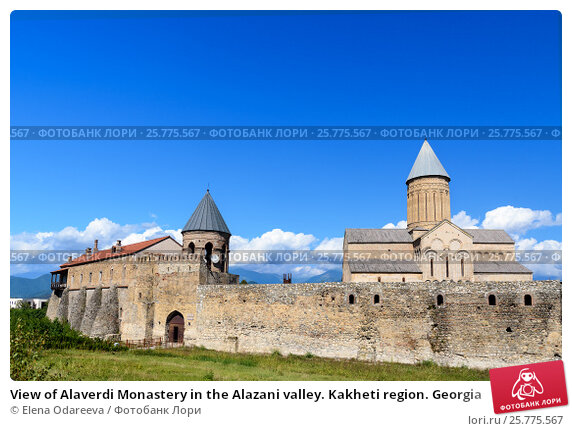 Купить «View of Alaverdi Monastery in the Alazani valley. Kakheti region. Georgia», фото № 25775567, снято 18 сентября 2016 г. (c) Elena Odareeva / Фотобанк Лори