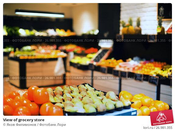 Купить «View of grocery store», фото № 26981355, снято 23 ноября 2016 г. (c) Яков Филимонов / Фотобанк Лори
