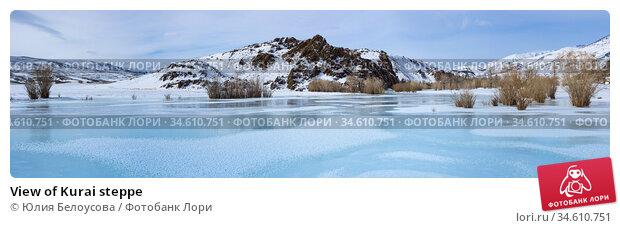 View of Kurai steppe. Стоковое фото, фотограф Юлия Белоусова / Фотобанк Лори