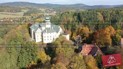 View of medieval Lemberk Castle. Czech Republic. Стоковое видео, видеограф Яков Филимонов / Фотобанк Лори