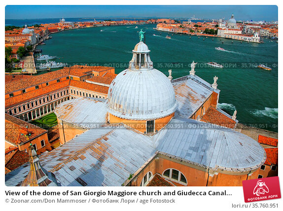 View of the dome of San Giorgio Maggiore church and Giudecca Canal... Стоковое фото, фотограф Zoonar.com/Don Mammoser / age Fotostock / Фотобанк Лори